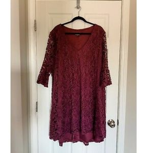 Lane Bryant Purple Lace Hi-Low Dress - 18/20